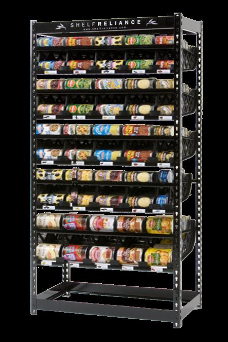 shelf reliance food storage rotation shelf harvest 72 w all small can tracks ebay. Black Bedroom Furniture Sets. Home Design Ideas