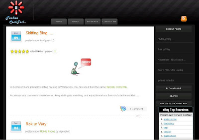 dfTheme Dark Blogger Template 2 Column