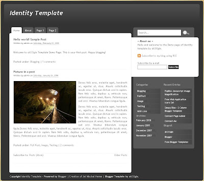 The Identity Blogger Template