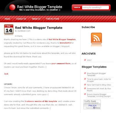 SummerFruit Blogger Theme