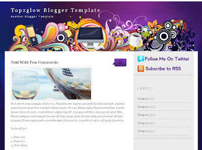 Topzglow blog theme