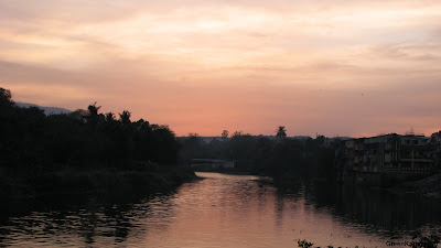 Sunset at Ulhas river