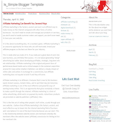 is Simple Blogger Skin