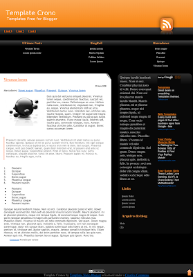 Chronos Blogger Template