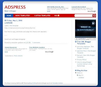 AdsPress Blogspot Template