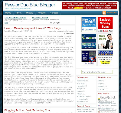 PassionDuo Blue Template