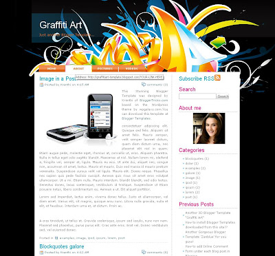 Graffiti Art Blogger Template