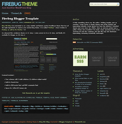 The Firebug Blogspot Template