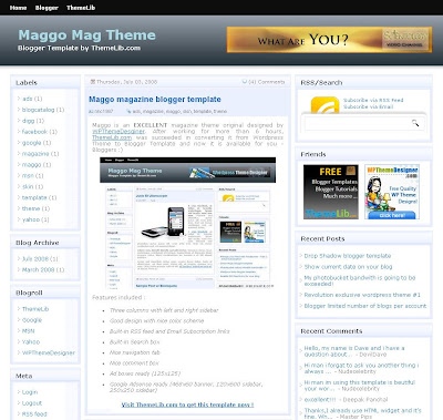 The Maggo Mag Blogger Template