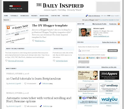 The Daily Inspired Blog Theme