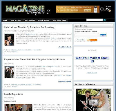 Magazine 2 Blogger Template