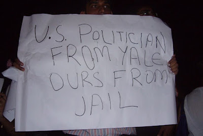America politicians are from yale, ours are from Jail
