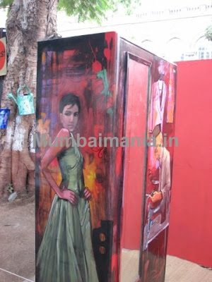 Painted Godrej Cupboard