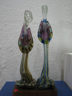 The Couple made from Old Bottles