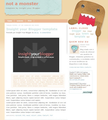 Not a Monster Blogger Template