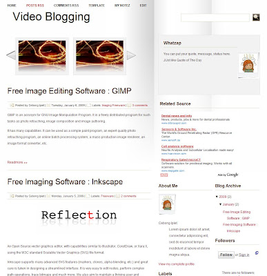 White Slide Blogger Template