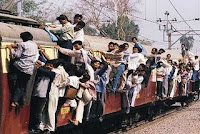 Mumbai's Crowded Trains