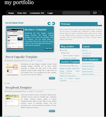 Reflection the Business Blogspot Template
