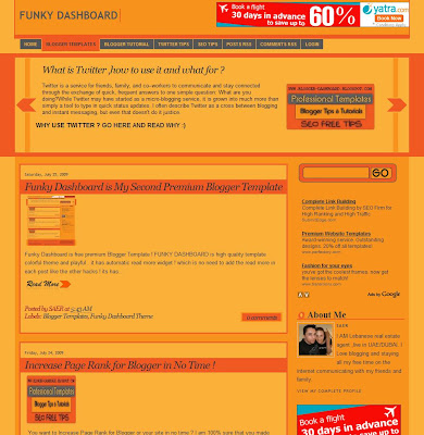 Funky Dashboard Blogger Template