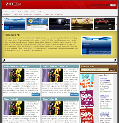 Zitizen Blogger Theme