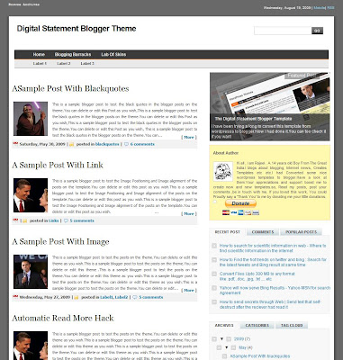 Digital Statement Blogger Theme