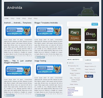 Androida blogger template