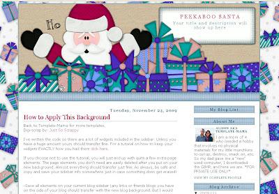 Peekaboo Santa Blogger Template