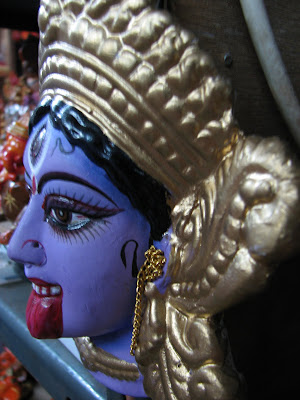 a sculpture of goddess kali