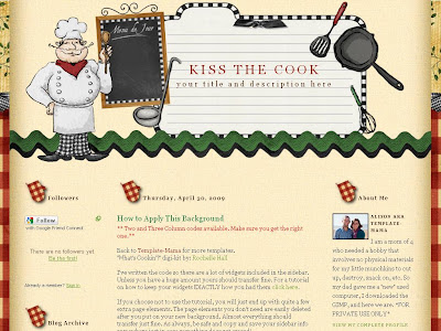 Kiss the Cook Blogger Template