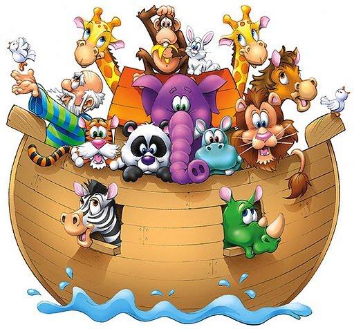 ANIMALES DEL ARCA DE NOÉ : FICHAS PARA NIÑOS