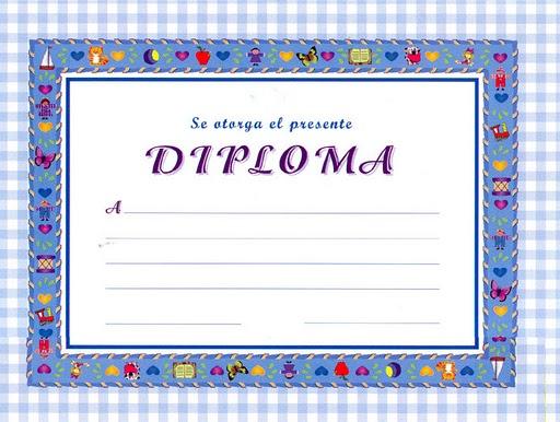 diplomas para nios. Diploma para imprimir gratis.