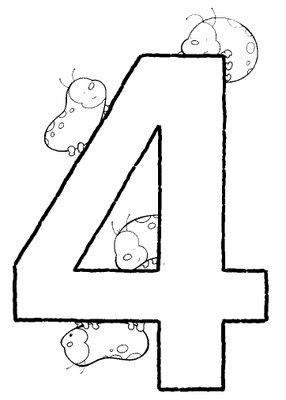 Ejercicio: colorea el dibujo del número 4.