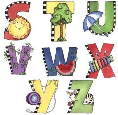 Dibujos de letras decoradas para ni os infantil y para ni os - Letras decoradas infantiles ...