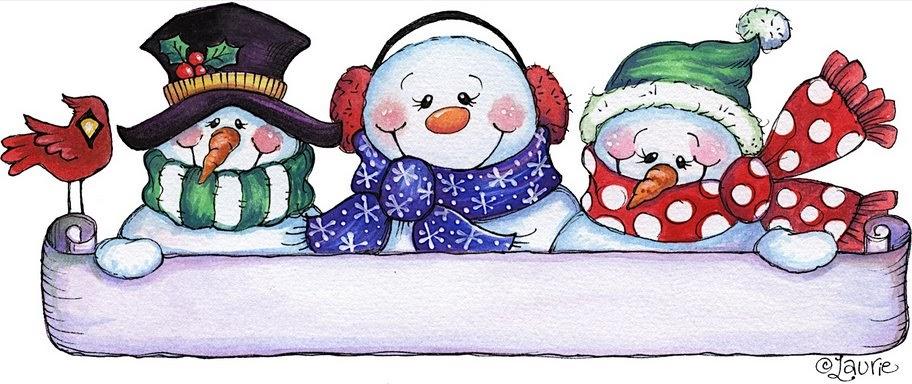 Dibujos navide os los mu ecos de nieve amigos infantil - Dibujos navidenos para ninos ...