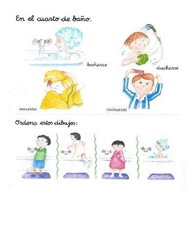 El Baño Cuento Infantil:FICHAS DE LENGUAJE PARA NIÑOS – EL BAÑO : FICHAS PARA NIÑOS