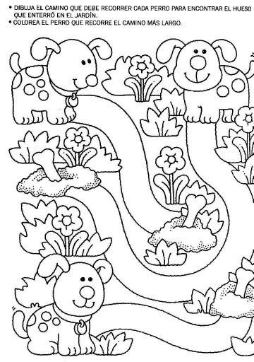 Pasatiempos para ni os el camino de los perritos for Actividades para ninos de jardin