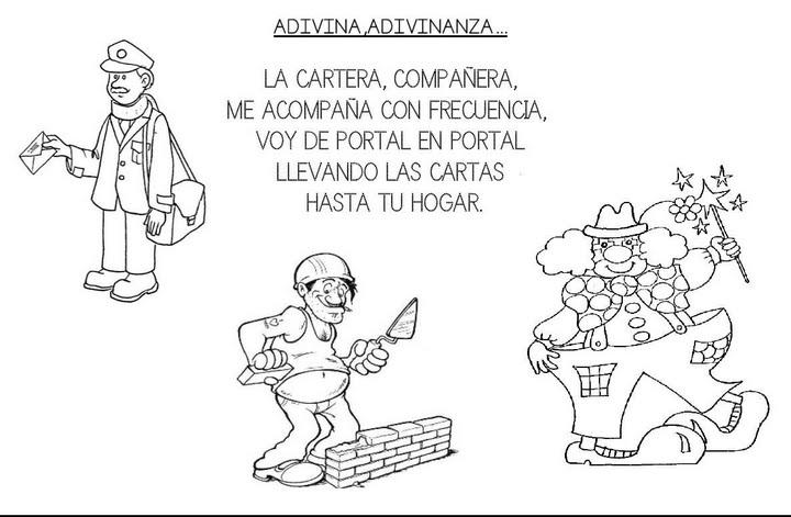 Adivinanzas Infantiles Sobre Los Oficios El Cartero Infantil Y ...