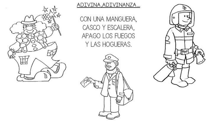 ADIVINANZAS DE LAS PROFESIONES - EL BOMBERO : INFANTIL Y PARA NIÑOS.