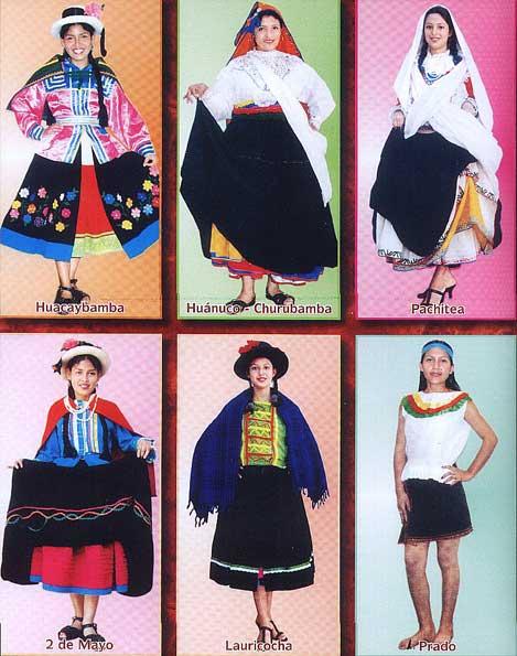 Vestido tipico region pacifica