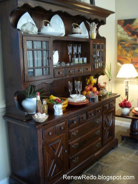 Decorating Ideas > ReNew ReDo! Christmas Buffet And Hut ~ 012415_Christmas Decorating Ideas Hutch