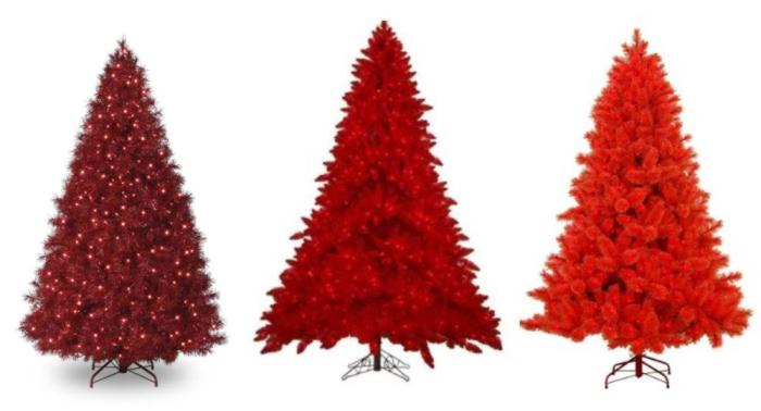Cositas de navidad arboles de navidad en color rojo - Arboles de navidad colores ...