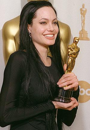 globe. golden. Angelina Jolie.