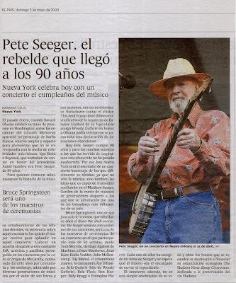 Artículo en El País - edición impresa