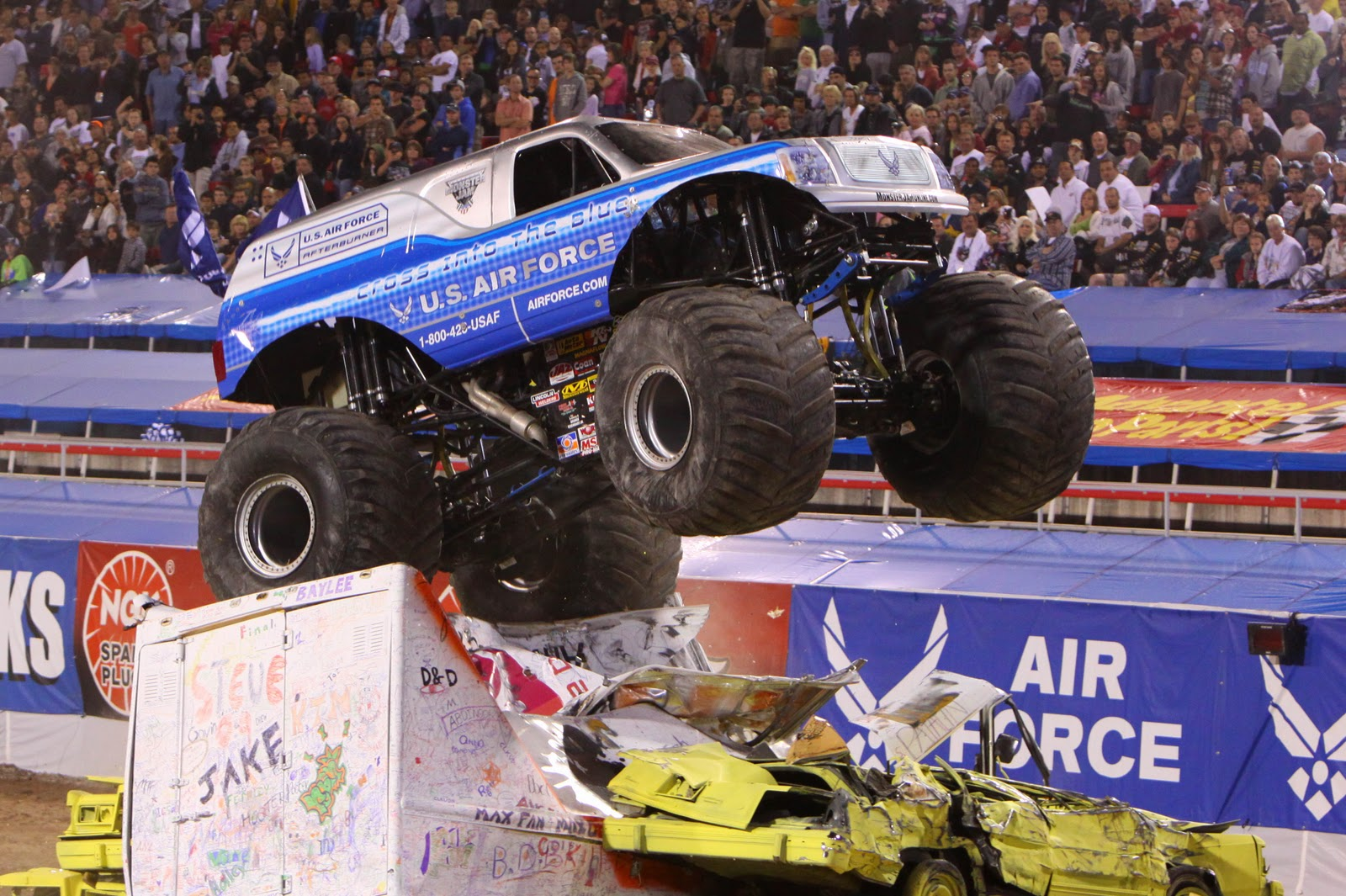 Circus Auto Parts Advance Auto Parts Monster Jamar Returns For More Engine Roaring