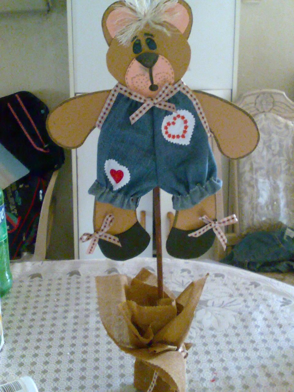 manualidades jessica: oso de foamy