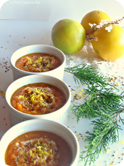 Citrus Burst Carrot and Butternut Soup