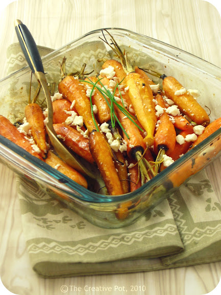 Roasted Carrots with Chili and Feta