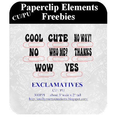 CU Paper Clip Elements_EXCLAMATIVES by Craftymumz Creations CUPaperClipELements_EXCLAMATIVES_RSW_Feb09_prev