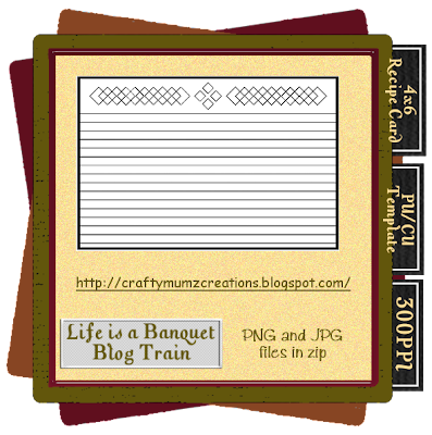 http://craftymumzcreations.blogspot.com/2009/06/life-is-banquet-template-freebie-4.html