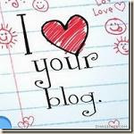 &#39;I Love Your Blog&#39; Award